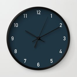 Numbers Clock - Storm Wall Clock