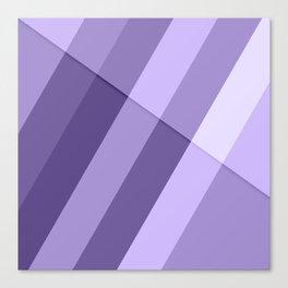 Ultra violet purple modern geometric lines Canvas Print