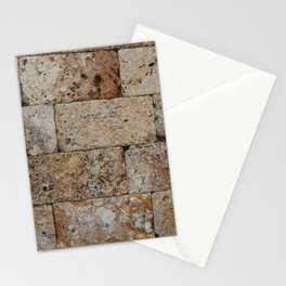 Texture natural stone masonry and paving Stationery Cards