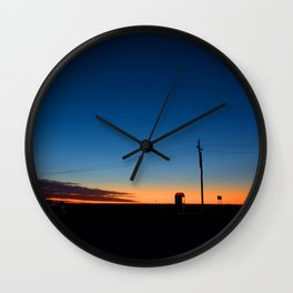 Outback sunset Wall Clock