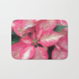 Poinsettia in pink Bath Mat