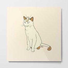 Meowth Metal Print