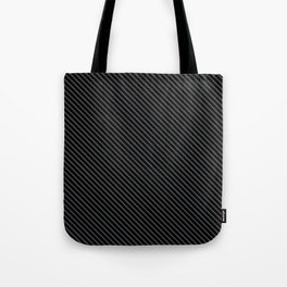 Dark Shadow and Black Stripe Tote Bag