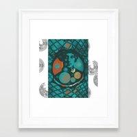 eugenia loli Framed Art Prints featuring Eugenia by Wickersham Studios