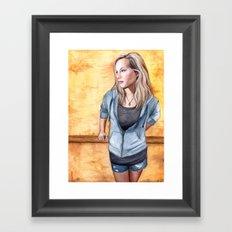 Standing on the Edge of Summer Framed Art Print