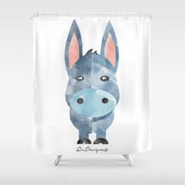 Water Colour Baby Donkey Shower Curtain