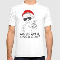 The Life Aquatic - Klaus Mens Fitted Tee LARGE White
