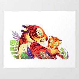 Tiger and Cub Art Print