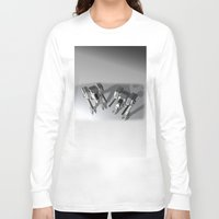 robots Long Sleeve T-shirts featuring Robots by Carlo Toffolo