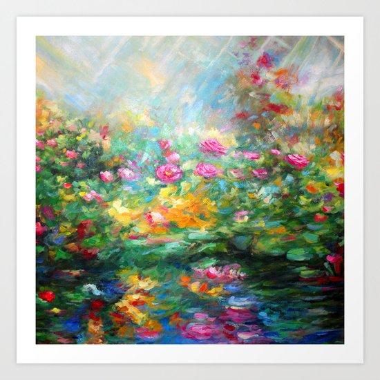 Roses paint  Art Print