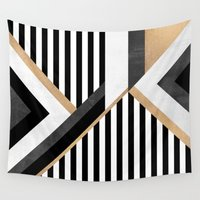 stripe Wall Tapestries featuring Stripe Combination by Elisabeth Fredriksson