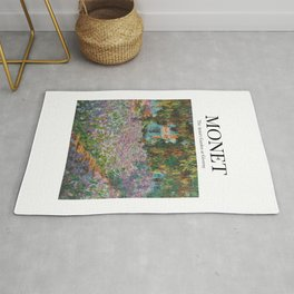 Monet - The Artist's Garden at Giverny Rug