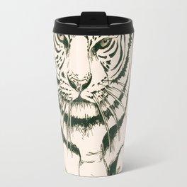 White Tiger Sepia Litograph Style Travel Mug