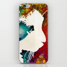 """""""The Lion The Beast The Beat""""  Calico Cat iPhone Skin"""
