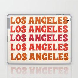 Los Angeles - retro vibes throwback minimal typography 70s colors 1970's LA Laptop & iPad Skin