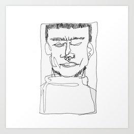 blind contour Art Print