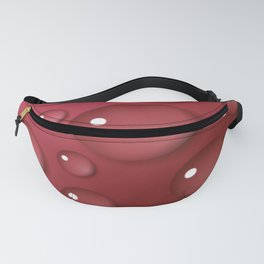 Red Waterdrops Pattern Fanny Pack