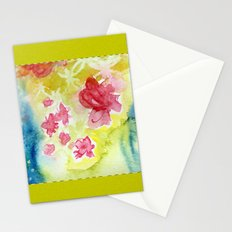 Watercolor Quilt Stationery Cards