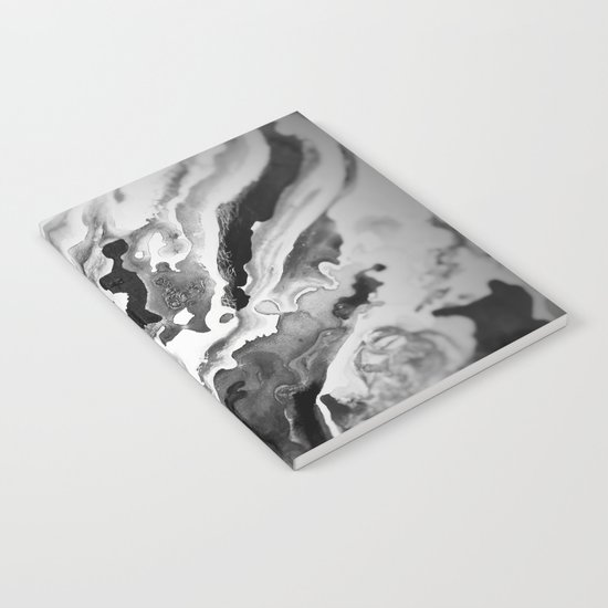 Deep Sea Black Focus Marble Notebook