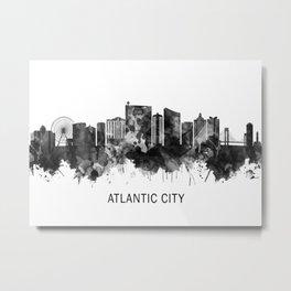 Atlantic City New Jersey Skyline BW Metal Print