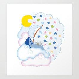 Dreaming of a cat Art Print