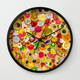 Fruit Madness (All The Fruits) Wall Clock