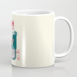 Misery, Horror, Movie Illustration, Stephen King, Kathy Bates, Rob Reiner, Classic book, cover Coffee Mug