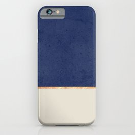 Navy Blue Gold Greige Nude iPhone Case