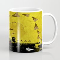 airplanes Mugs featuring airplanes and cigarettes by Trevor Bittinger
