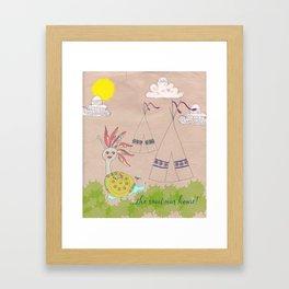 Indian Snail Framed Art Print