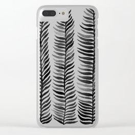 Black Seaweed Clear iPhone Case