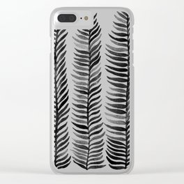 Black Seaweed Clear iPhone Case
