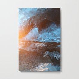Icecave Sunrise Metal Print