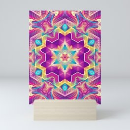 Flower Of Life Mandala (Blossoming Soul) Mini Art Print