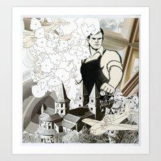 Ste. Foy Conques Art Print