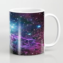 Fox Fur Nebula : Purple Teal Galaxy Coffee Mug