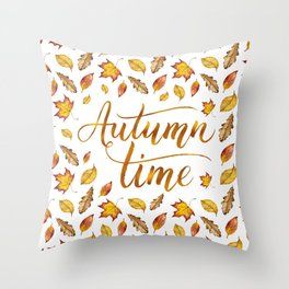 Autumn Time Throw Pillow