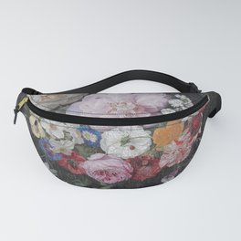 Vintage Bohemian Flower collage Fanny Pack