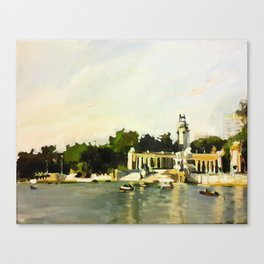 The Lake at Buen Retiro Park Canvas Print