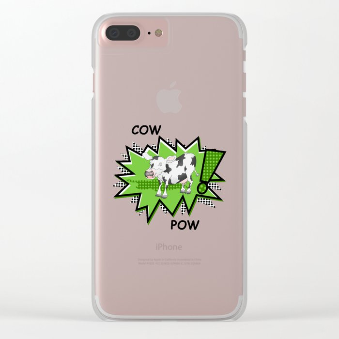 Cow Pow Clear iPhone Case