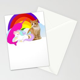 Death Metal Unicorn Narwhal Kitten Funny Heavy Metal Lover Shirt Stationery Cards
