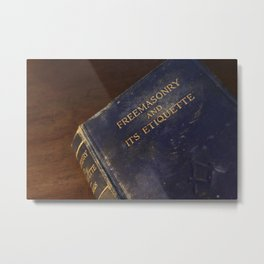 The  Old Blue Freemasonry Book Photograph Metal Print