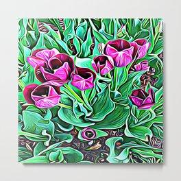 Nurturing Flowers in Pink Metal Print