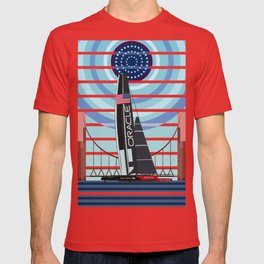 Never Give Up ! Oracle Team USA America's Cup T-shirt