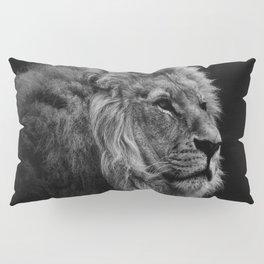 Black Print Lion Pillow Sham