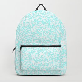 Tiny Spots - White and Celeste Cyan Backpack