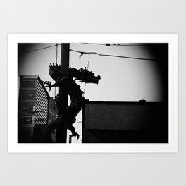 Dragon on the streets Art Print
