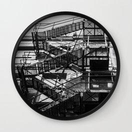 Tilt and Shift fire escape, Manchester Wall Clock