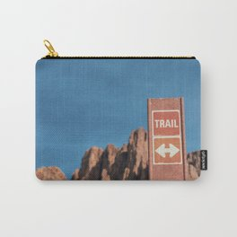 Desert Trail Sign Carry-All Pouch
