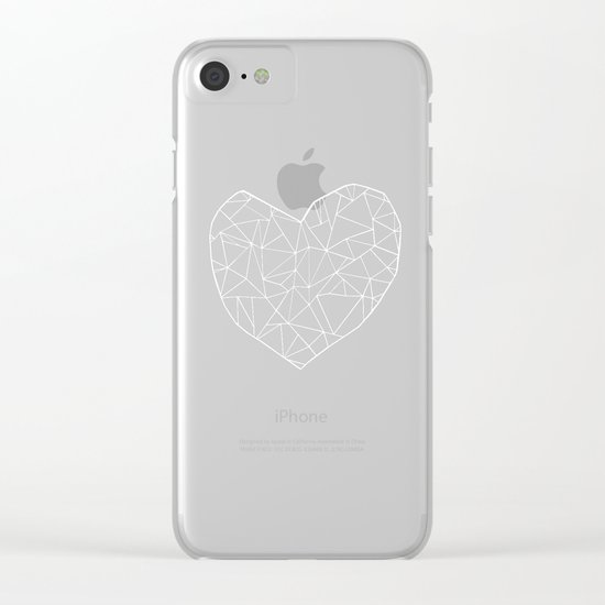 Abstract Heart   Clear iPhone Case